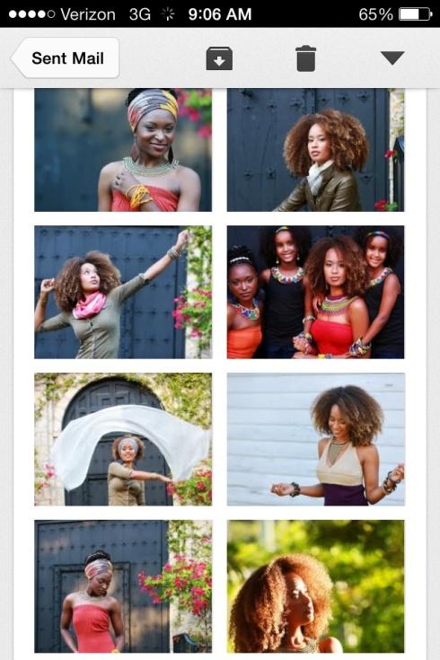 Sample sheet --Johari Creations photo shoot